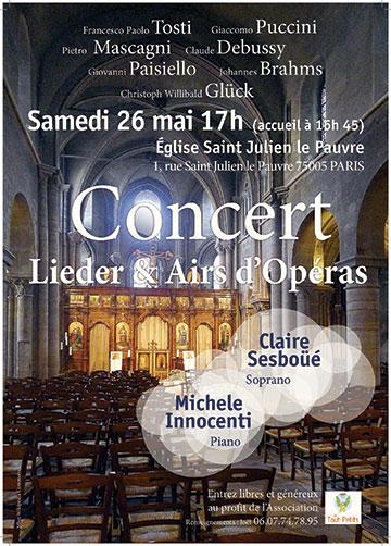 26 mai 2018 : Concert au profit des Tout-Petits