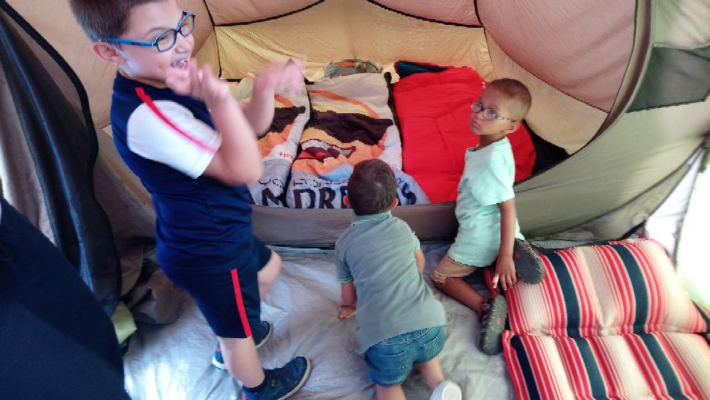 3 jours sous la tente aux Mesnuls
