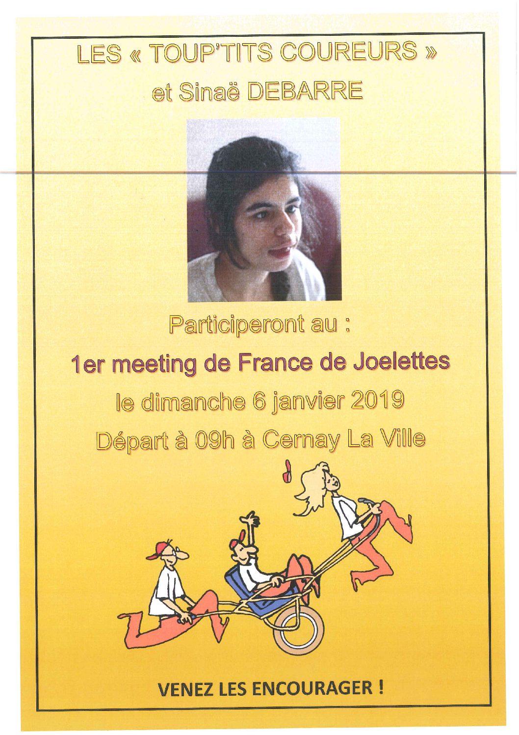6 janvier 2019 : 1er meeting de France des Joelettes