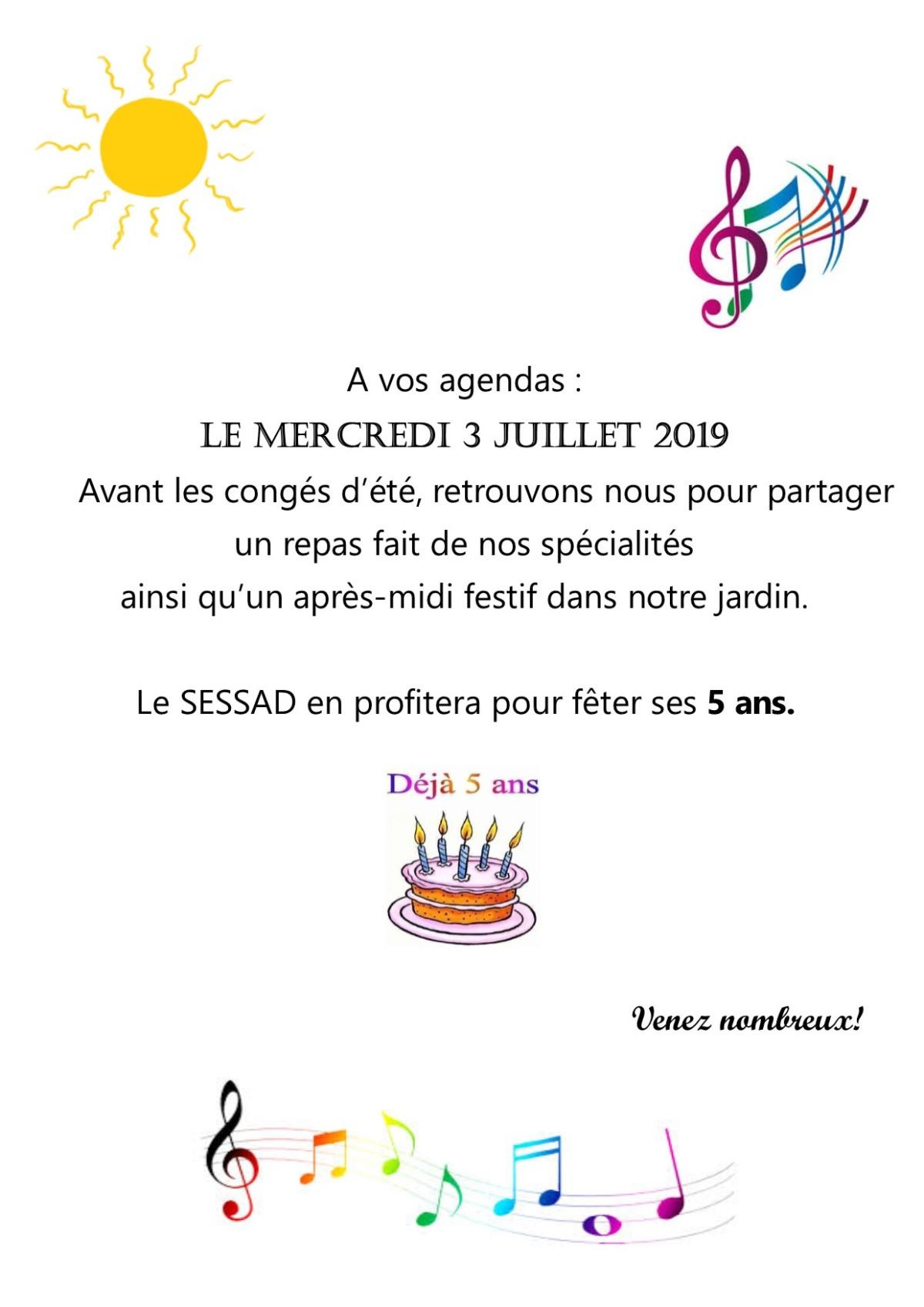 Le S.E.S.S.A.D. de Paris fête ses 5 ans !
