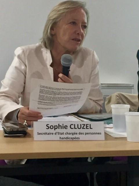 Venue de Madame la Secrétaire d'Etat, Sophie CLUZEL dans les établissements parisiens des Tout-Petits